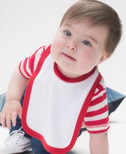 Bavoir bébé bicolore