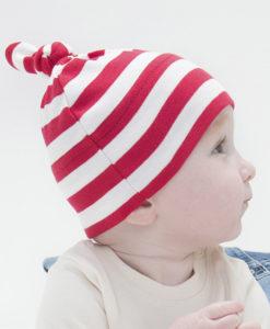 Bonnet bébé à rayures