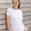 T-Shirt Femme col rond chiné
