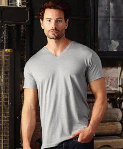 T-Shirt Homme col V chiné