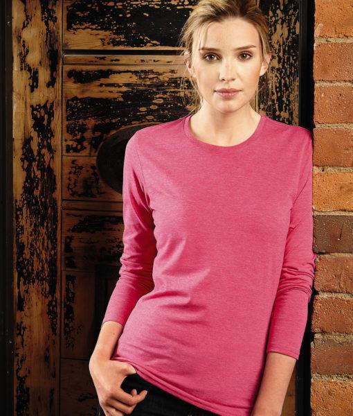 T-Shirt Femme manches longues chiné